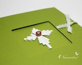 Handmade Greeting Card with Paper Quilling Cross , Saint Valentines Day, baptism, blessings ,