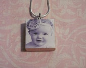 CUSTOM MADE PHOTO Scrabble Tile Pendant
