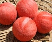 Wool Dryer Balls - Strawberries and Cream - Set of Four