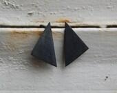 Oxidized silver geometrics pendants earrings Nro8