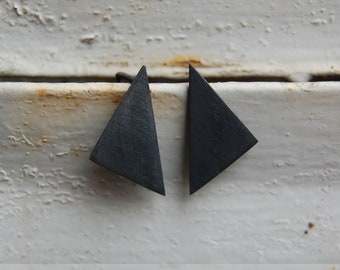 Black geometrics pendants earrings // GM008