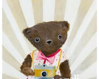 Teddy Bear Art, Teddy Bear Photographer, Bear Nursery Art for Kids Room Décor woodland animal nursery Bear Nursery décor childrens wall art