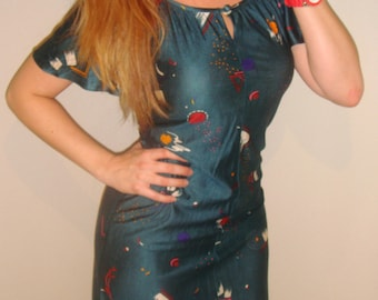 abstract print dress or nightie