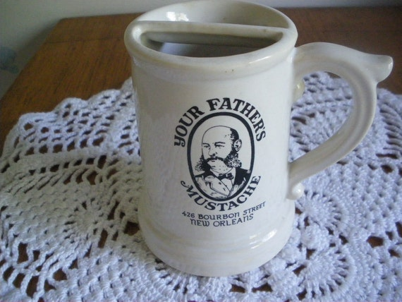 Vintage Your Fathers Mustache New Orleans Mug McCoy