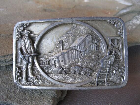 RESERVED FOR Dave Lewis - Vintage Mining Belt Buckle Siskiyou Bergamot Buckle Co.