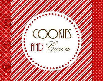 Cookies and Cocoa Winter or Holiday Printable Set