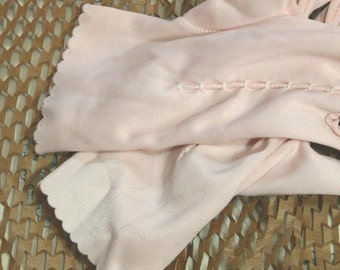 Vintage Pink Nylon Gloves