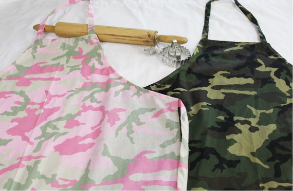 His and Hers Camouflage Adult Aprons