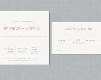 Printable Wedding Invitation Set - On the dotted line