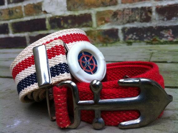 Vintage pair of  Nautical sailor belts