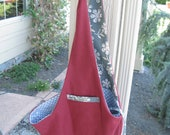 Pet Sling Large- Red and Grey Flowers