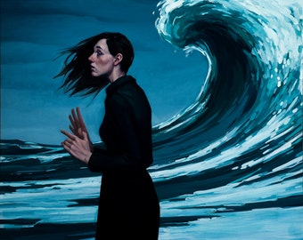 "painting woman ocean wave ""All in your Mind"""