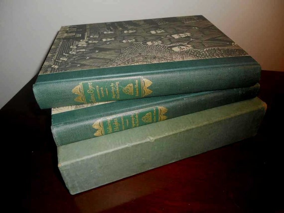 Vintage 1943 Wuthering Heights Jane Eyre First Edition Book Set With Slipcase FREE SHIPPING