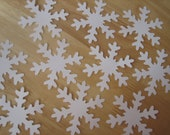 Large Paper Snowflakes - 10 Pieces - White Cardstock Snowflakes