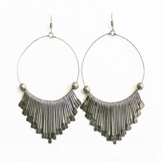VIntage Thai Silver Fringe Earrings