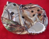 SassyCloth one size pocket diaper with realtree camo print . Made to order.