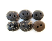 Natural Beach Stone Buttons - DARK RETRO MIX by StoneAlone -  Pebble Buttons, Knitting Buttons, Sewing Buttons