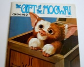 Gremlins Book with Record The Gift of the Mogwai Book Story 1 1984