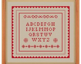Sampler Cross Stitch Pattern PDF file