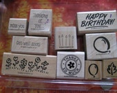 Variety of Stampin' Up Stamps