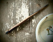 RESERVED for Cassie, spindle wand, hand-turned supported slim black and white ebony