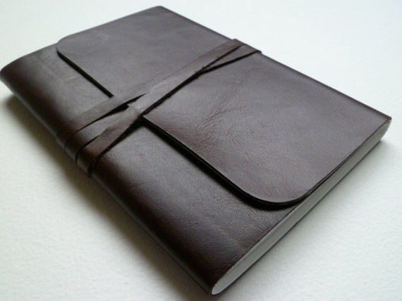 Leather Bound Artist Sketchbook Redwood Handmade