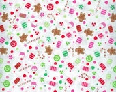 Christmas Sweets Fitted Crib Sheet or Toddler Sheet - 100% Designer Cotton - Riley Blake