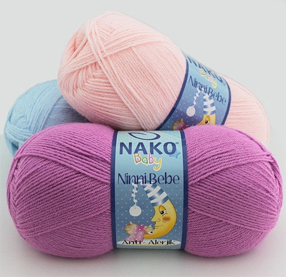 Reserved for Sonia Santos- Soft anti-allergic baby knittings yarn for every season, 100 grams, big skein.