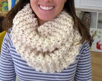 Chunky knit Infinity Circle Scarf