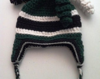 team colors crocheted hat