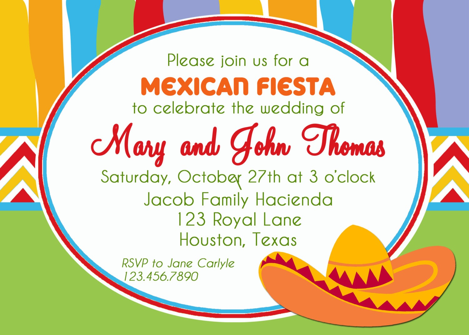 mexican fiesta party invitation printable or printed with free, invitation samples
