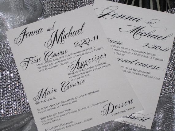 Wedding menus calligraphy fonts by magicbeyondmidnight on etsy