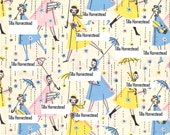 Vintage Gift Wrap JPG Digital Scan Download - Happy Showers Gift Wrap Scan