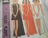 misses and juniors dress sewing pattern McCalls 3839 uncut 1970s