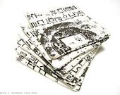 Christmas Sale - Hangul Coasters - Set of 4 - Korean Script Printed