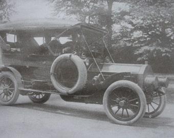 Sepia print -  Antique vehicles - 1911
