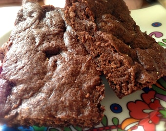 Vegan Brownies  Double Chocolate or Walnut 6pk