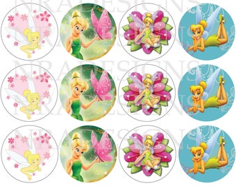 Tinkerbell Cupcake Toppers -DIGITAL FILE