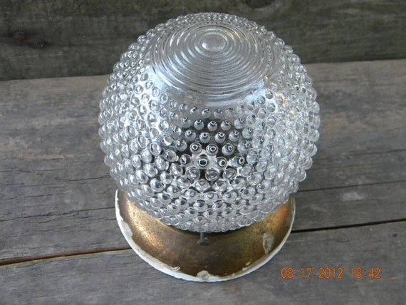 Light fixture and cover hobnail clear glass