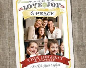 Christmas card, christmas photo card, photo Christmas card, Christmas holiday card, Digital Christmas card, Printable Holiday card