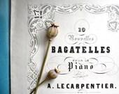 French Antique Vintage Sheet Music /Paper Ephemera. Le Pre Aux Clercs. Bagatelle by A. Lecarpentier.  8 Pages. Ships free