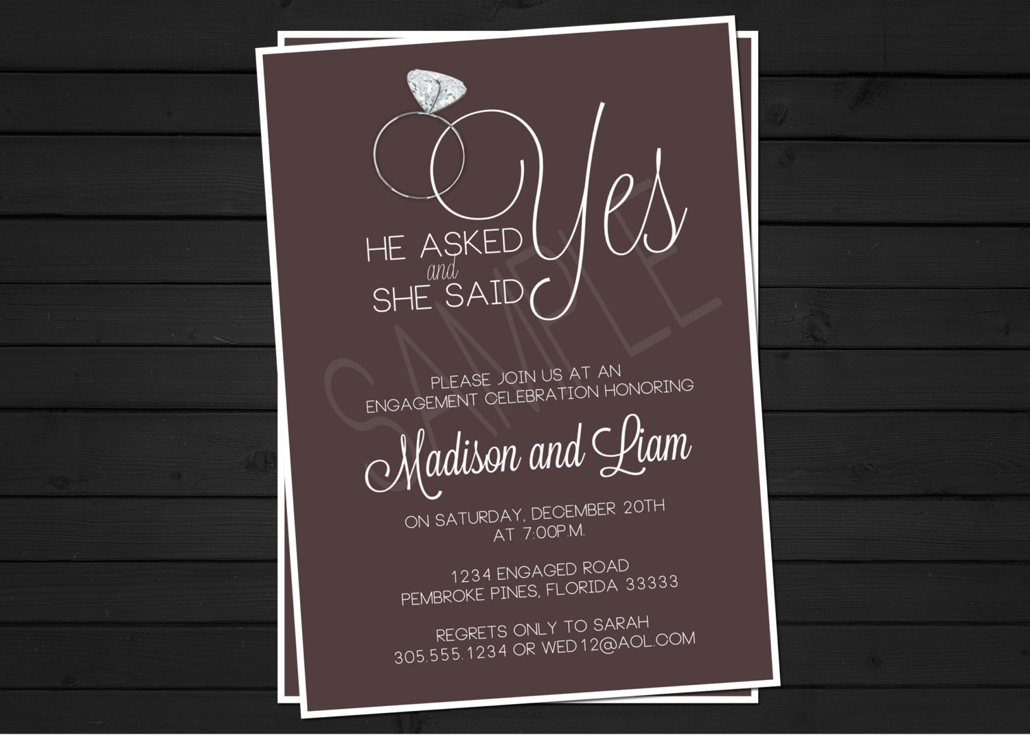 Free Customized Engagement Invitations was best invitation example