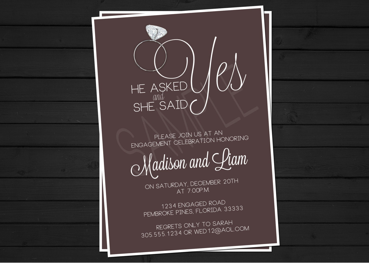 engagement party invitation digital file by shestutucutebtq