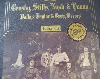 Vintage Crosby, Stills, Nash and Young Deja Vu LP Album