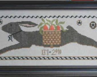 The Totin' Hare : La D Da counted cross stitch patterns Easter bunny rabbit spring counted hand embroidery