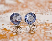 Swarovski crystal earrings -Light Sapphire