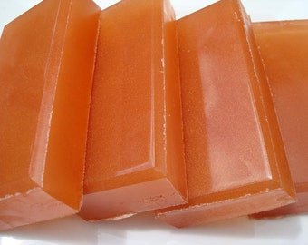 Exotic Amber Soap - Red Orange Soap - Scented Soap - Homemade Soap - Bar Soap - 1/4 lb Soap - One Quarter Pound Soap