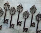 Stewart Gunmetal Black Skeleton Key  - Set of 10
