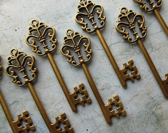 Sinclair Antique Bronze Skeleton Key  - Set of 10