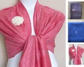 Printed Fuchsia Pink Pashmina  Scarf, Shawl, Wrap, bridal shawl, bridesmaids shawl, bridal gift